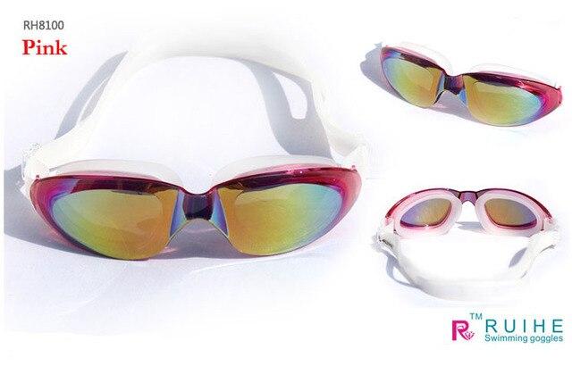 Free shipping RUIHE fog UV Plating Luo 8100 big box swimming goggles