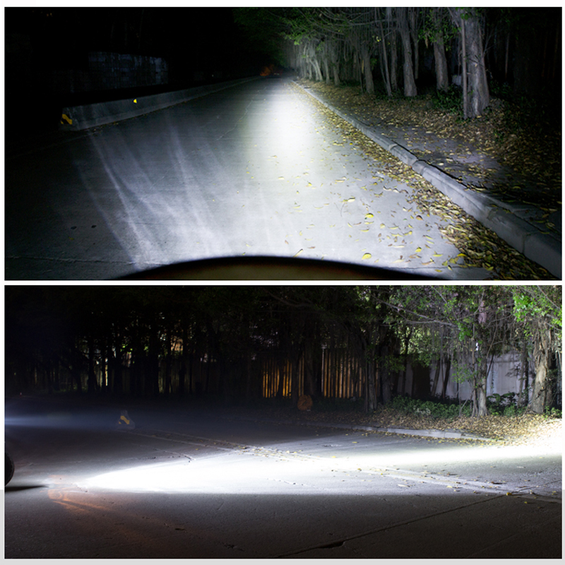 Motowolf Motorcycle Headlights 20W Universal DC 12V-80V Motorbike Spotlight Head Light Lamp E03B 22