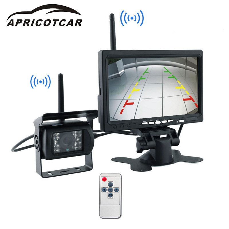 7 inch wireless car LCD monitor image system wireless monitoring display car rear view camera has a good waterproof function