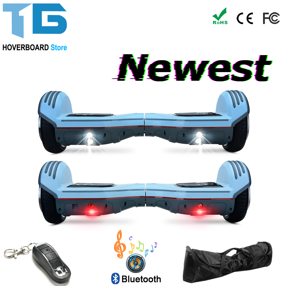 Overboard 6.5 Inch Ttrottinette Electrique Adulte Overboard Electrique Hoverboard Electric Scooter Electric Skateboard FR Stock two rounds electric scooter pure power and power mode trottinette electrique adulte collapsible 4 inches pneumatic tire