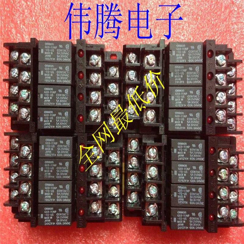 Free Shipping    4 Bit NEW Relay Module   G6B-4BND Relay DC24V G6B-1174P-FD-US