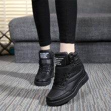Breathable Women Shoes High Top Women Casual Shoes Platform Hidden Increasing Shoes Winter Plush Women Boots #FXS005#