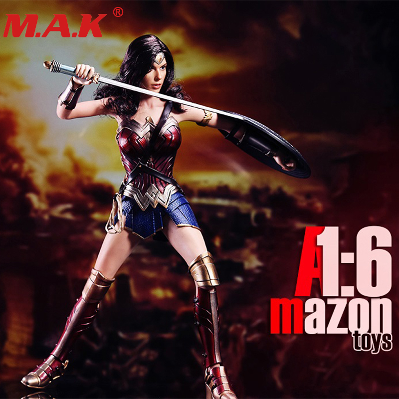 1/6 scale wonder woman female girl with sword clothes set toys model 1:6 warrior collection full set action figure accessories