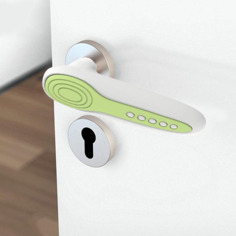 Silicone Anti Collision statique poignée de porte protecteur couvre bébé décor de sécurité à la maison enfant bébé protecteur de sécurité poignée de porte décor