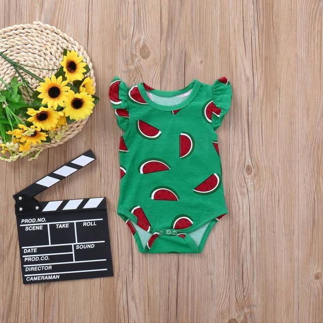 186e7e45a5c BMF TELOTUNY Fashion Boys Clothing Summer Newborn Baby Boys Girls  Watermelon Fruit Print Romper Jumpsuit Clothes Jul4
