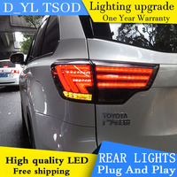 D YL Car Styling Accessories for Toyota Highlander LED Taillights 2015 Highlander Tail Light Rear Lamp DRL+Brake+Park+Signal