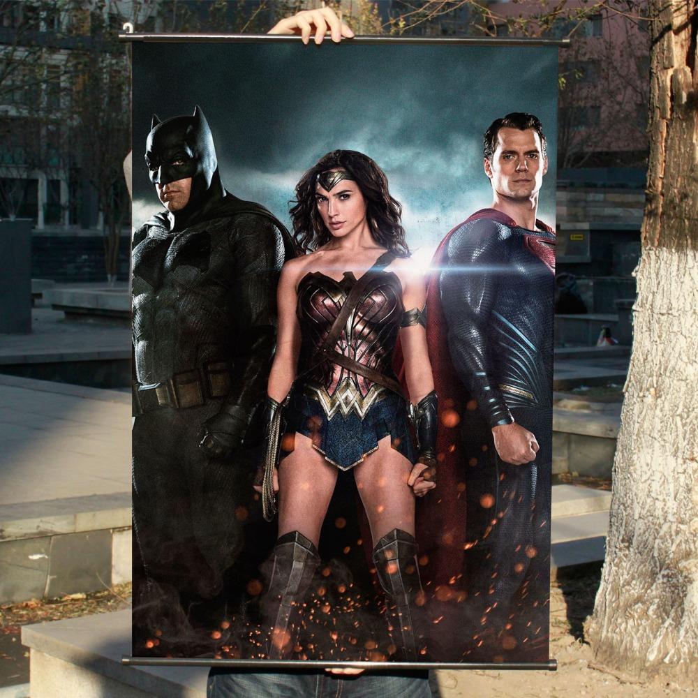 Batman: War Superman HD Game Movie Wall Scrolls Poster Bar Home Decor Banners Hanging Art Waterproof Cloth Decorate 60X90 CM