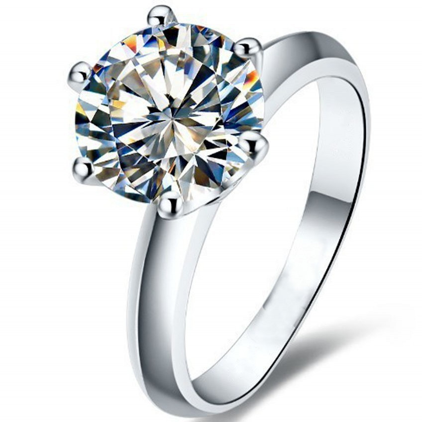 choucong Hot Solitaire 2kt AAAAA zirkon cz 925 Sterling sølv Kvinder forlovelse Wedding Band Ring Sz 4-10 Gave