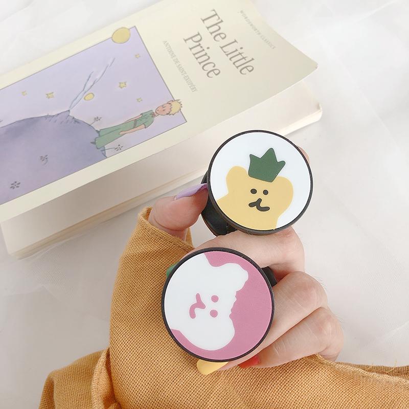 INS Korea Super Fire Cute Cartoon Animal Puppy bear Universal Stand bracket For iphone Xs MAX Xr X 6s 7 8 plus For Samsung Capa in Fitted Cases from Cellphones Telecommunications