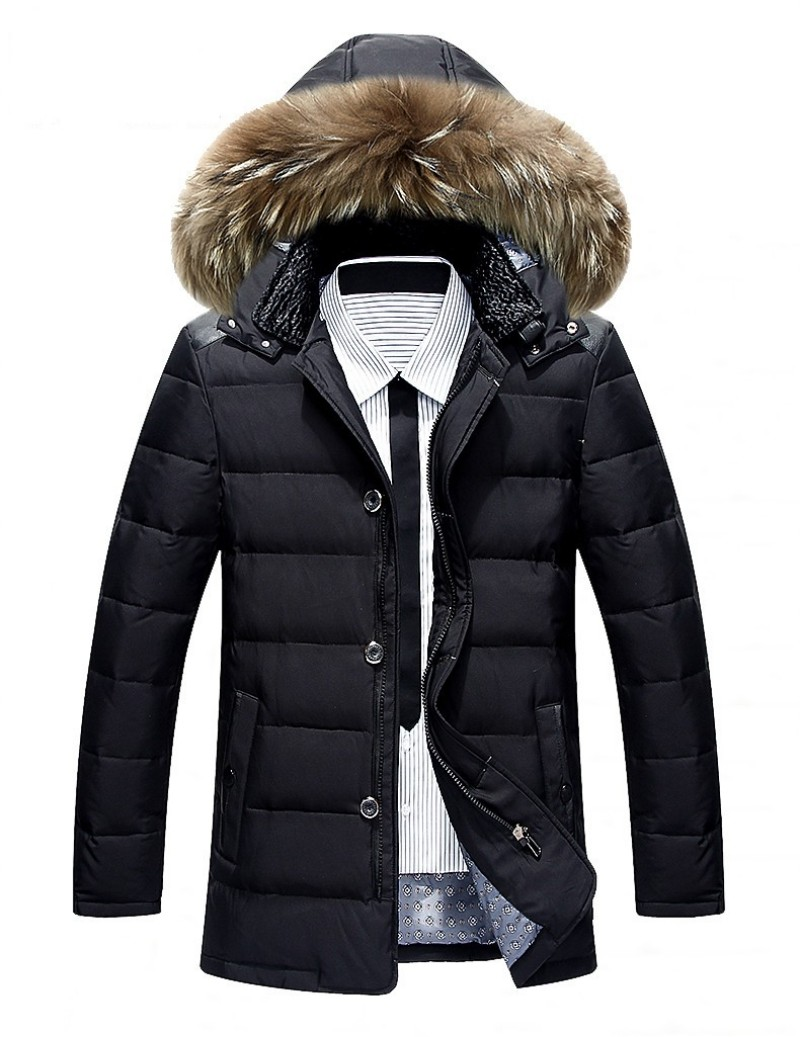 d6dd3fd91e US $59.39 10% OFF|New Winter Mens White Cotton Warm Coat Hooded Fur Collar  Puff Jacket high Quality Warm Parka Men plus size Vestidos Free Blazer-in  ...