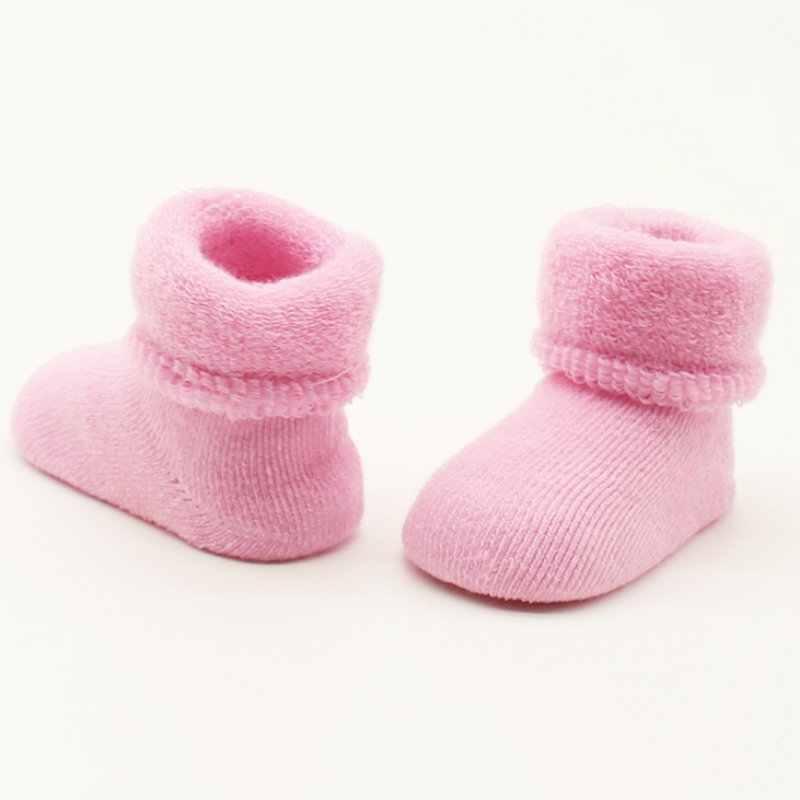 0-2 Y bebé niñas niños recién nacidos invierno botas calientes niños pequeños calcetines de algodón suave botines