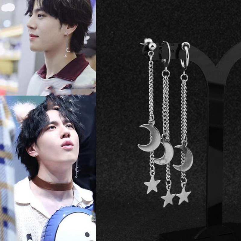 1pcs Korea KPOP Got7 Kim YuGyeom Album Got It Stud <font><b>Earrings</b></font> Fashion Jewelry Accessories <font><b>For</b></font> <font><b>Mens</b></font> Womens <font><b>Earring</b></font> Gift image