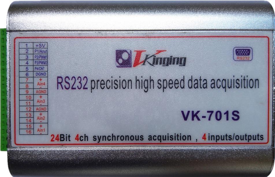 VK701S 24 bits carte d'acquisition de données série micro volt 400ksps précision haute vitesse - 2