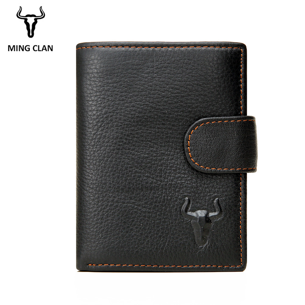 Mingclan New Wallet Brand Short Men Wallets Genuine Leather Male Purse Card Holder Wallet Fashion Man Zipper Wallet Men Coin Bag new wallet short men wallets genuine leather male purse card holder wallet fashion zipper wallet coin purse pocket bag free ship
