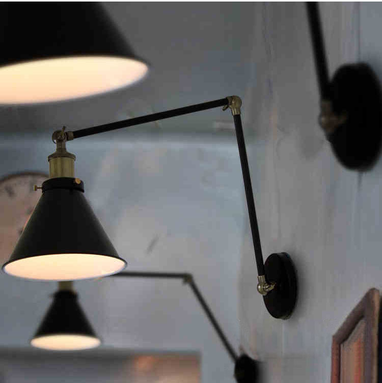 Phube Lighting Industrial Wall Light Wall Lamp Adjustable Wall lamp Bedside Wall Lamp Sconce  Included 2 pcs Edison Bulbs willlustr fabric wall lamp beige cloth light europe bronze lighting fixture bedside claridge double sconce with linen shade