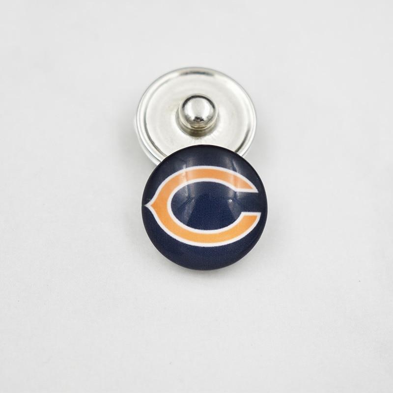 Chicago Bears Футбол команды кнопка металла защелками спортивные изделия подходят для кнопка мгновенного браслет ...