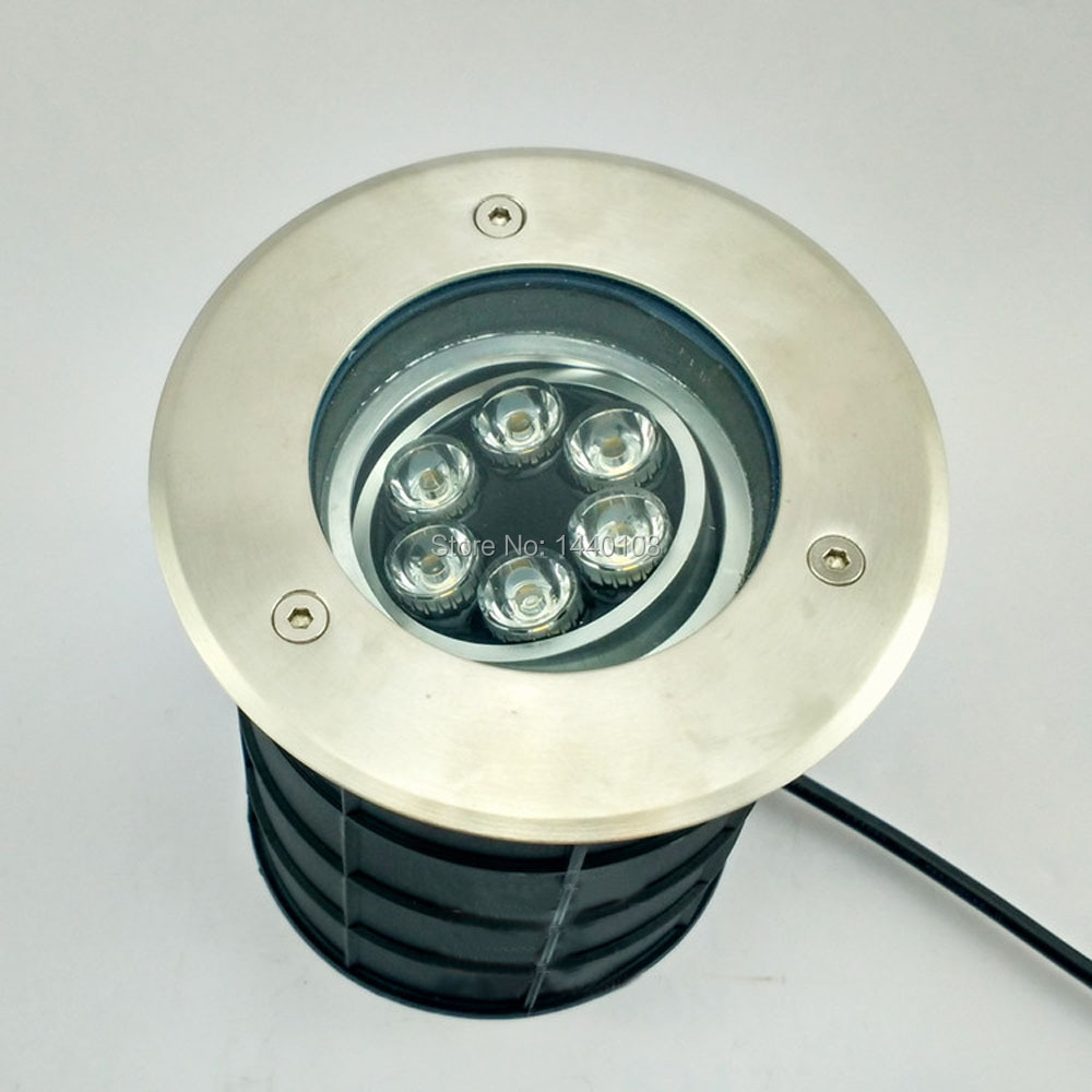 (3pcs/lot) 6w IP68 LED Underground Lamp12V AC85~265V Dimmable, Buried/Inground Light 3years Warranty Outdoor/garden free shipping led underground lamps 6w inground light ip67 built in outdoor lighting ac85 265v lul a 6w 3years warranty