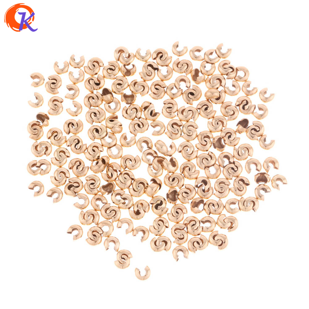 500pc Mix Style Iron Crimp Bead Cover 4mm Jewelry Finding Crimp Knot Making DIY