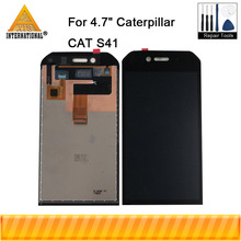 """الأصلي Axisinternational 4.7 """"ل كاتربيلر القط S41 شاشة LCD عرض محول رقمي يعمل باللمس ل كاتربيلر القط S41 عرض"""