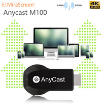 Newest 4K TV Stick Anycast M100 5G/2.4G HDMI Miracast DLNA Airplay WiFi Display Receiver Dongle Support Windows Andriod IOS in stock measy a2w 4k tv dongle dual band 2 4ghz 5ghz wifi miracast airplay dlna tv stick support 4k ezcast wifi display dongle