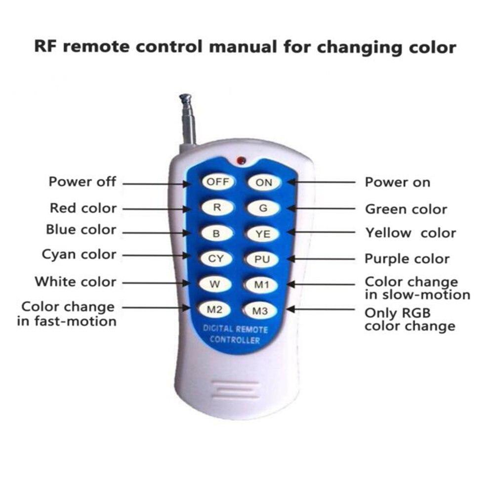 Светодиодный RGB подводный свет для плавательных бассейнов Нержавеющаясталь/стены поверхностного монтажа, AC12V Водонепроницаемый IP68, Беспр... - 5