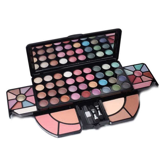 brand 56 color makeup set eye shadow multicolor naked makeup palette professional make up maquiagem highlighter makeup brush