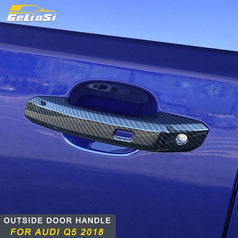 Gelinsi For Audi Q5 2018 Car door lock frame cover trim sticker decoration accessories