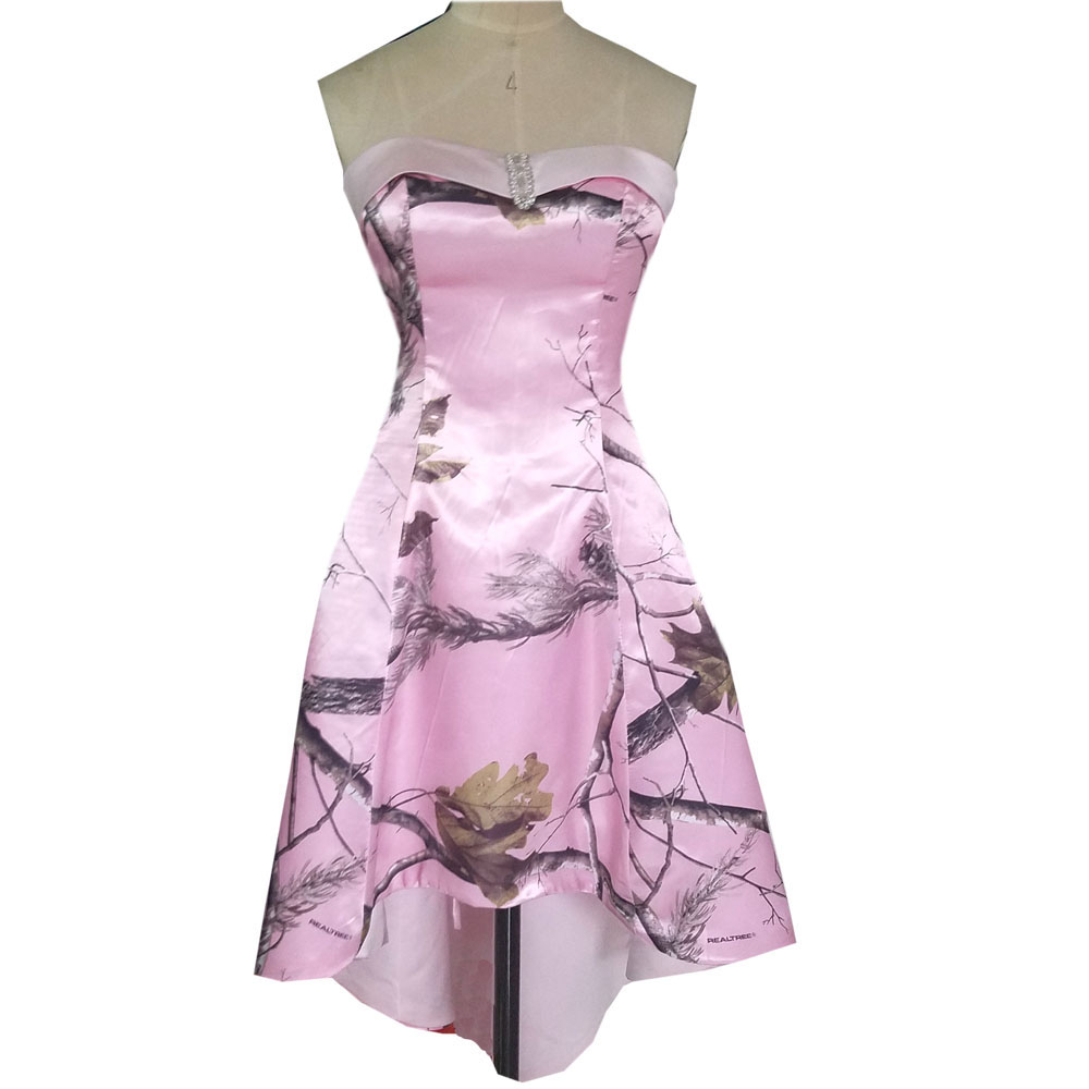 sweetheart realtree pink camo formal dress 2018 camouflage party ...