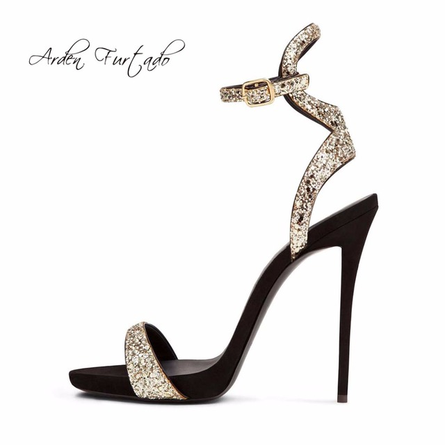 Arden Furtado 2018 summer high heels 12cm gold silver fashion slippers platform open toe stilettos sexy party shoes big size 43 outlet best prices buy cheap amazing price w7Acwp43P2