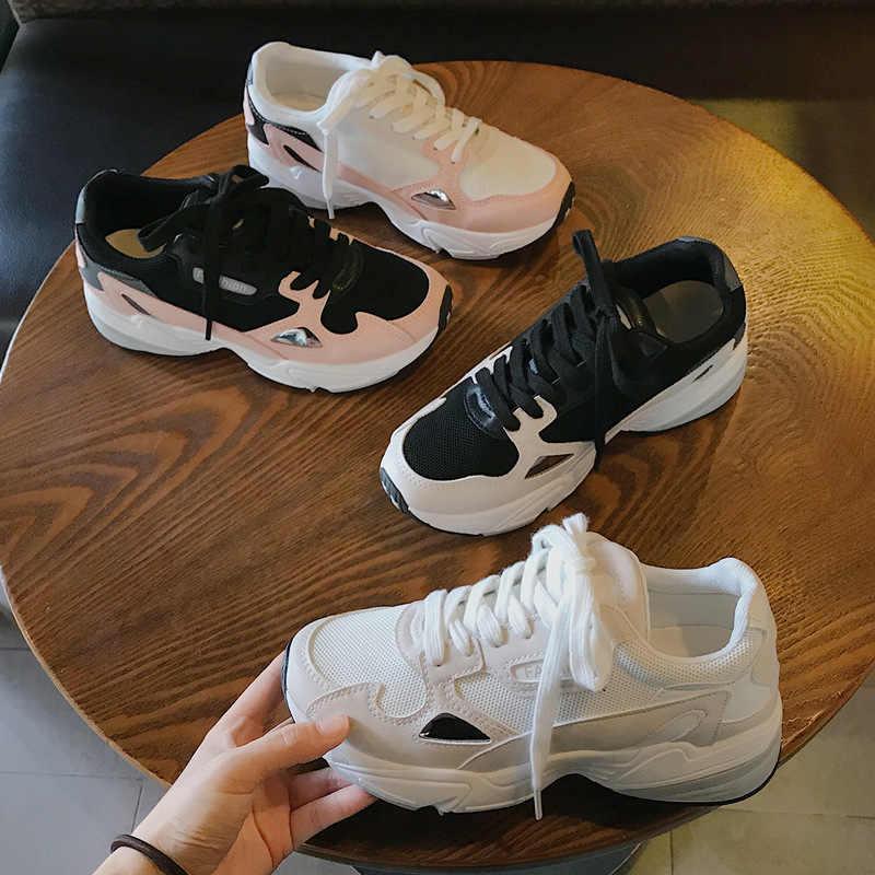 DIWEINI 2020 sonbahar yeni klasik tıknaz ayakkabı kadın moda baba spor ayakkabı Sneakers rahat Platform rahat ayakkabılar kadın n175