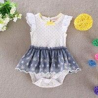 Cotton 2017 Summer Clothes Girl Dress Baby Princess Sleeveless Striped Vestido Infantil Children Clothing Baby Dresses for girls