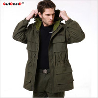 GustOmerD New Military Tactical Jacket Men Windbreak Warm Cotton Coat Camouflage Hooded Camo Army Men Jacket