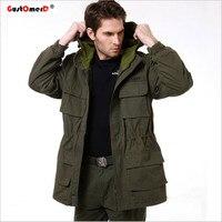 GustOmerD New Military Tactical Kurtka Mężczyzn Parawan Ciepłe Bawełniane Płaszcz Z Kapturem Kamuflażu Camo Armia Mężczyzna Kurtki Odzież Wojskowa