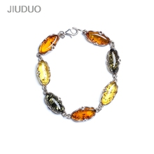 Bracelet Sterling silver Lucky Women Amber Hand with Certificate Natural Blood Perfection DIY Men and Park Chain Han