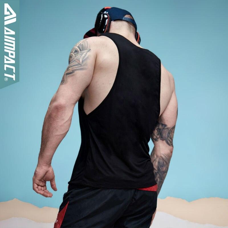aimpact для мужчин яркий топ с низким изделия Prime Gel Seal прошел для мужчин тренировки - xman мышцы человека фитнес спортивный костюм ad26