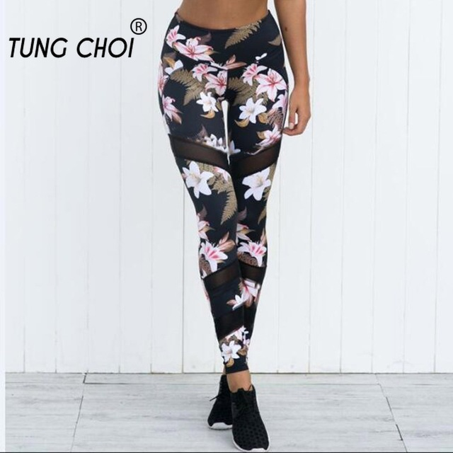Tracksuit For Women Fitness Sets Floral Print Women Sports Bra Mesh Legging Pant Sport Suit Women Sport Gym Set Women Sportswear 3