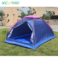 2 Person Outdoor Ultralight Camping Tent Single Layer 3 Season Tent with Summer Mosquito Net Beach Hiking Trabel Portable Tent