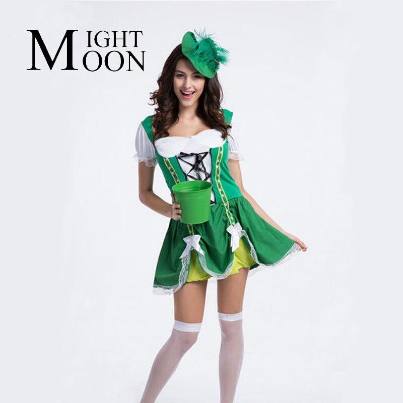 Moonight mujeres sexy traje verde muchacha de la cerveza Oktoberfest  promocionales uniformes tamaño m L XL 82b75f3451c8