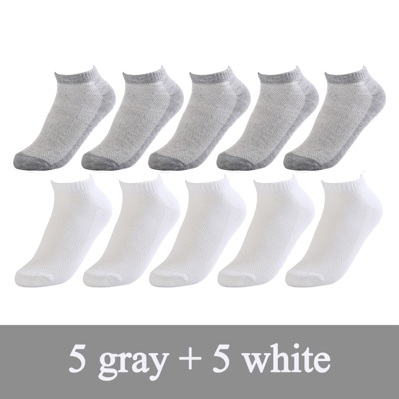20Pcs=10Pair thin Men   socks   Solid Mesh Invisible Ankle   Socks   Men Summer Breathable Thin Boat   Socks   white Size EUR 38-43 hot sale