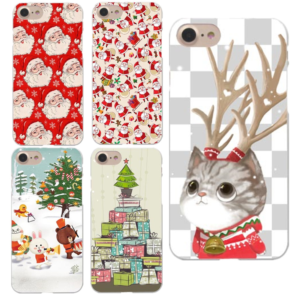 Happy New Year Phone Cases For iPhone 8 8Plus Merry Christmas Tree ...