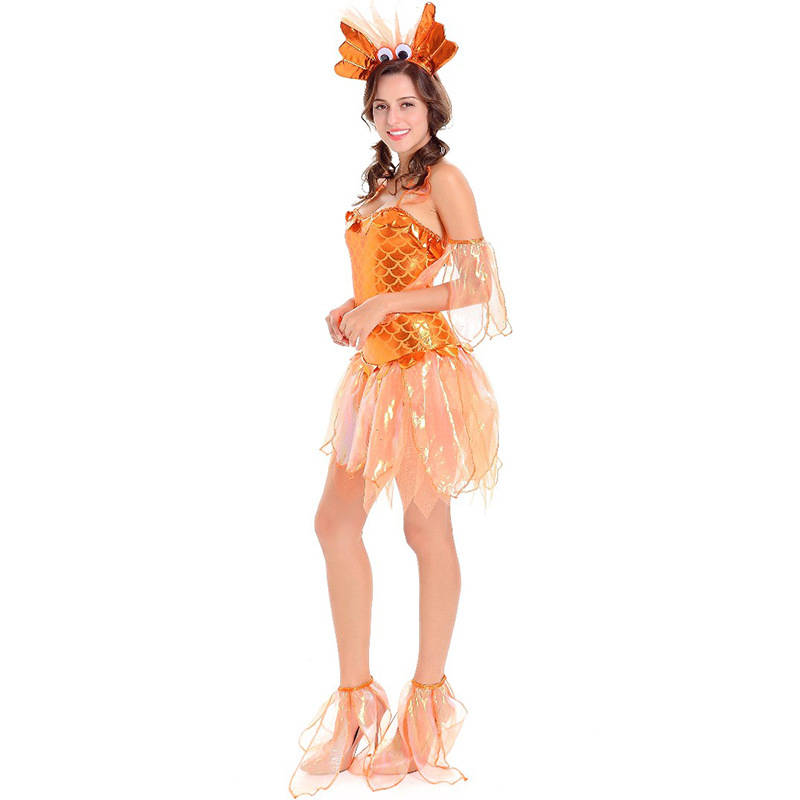 Orange Goldfish Costume Girl's Funny Fancy Party Holiday Cosplay