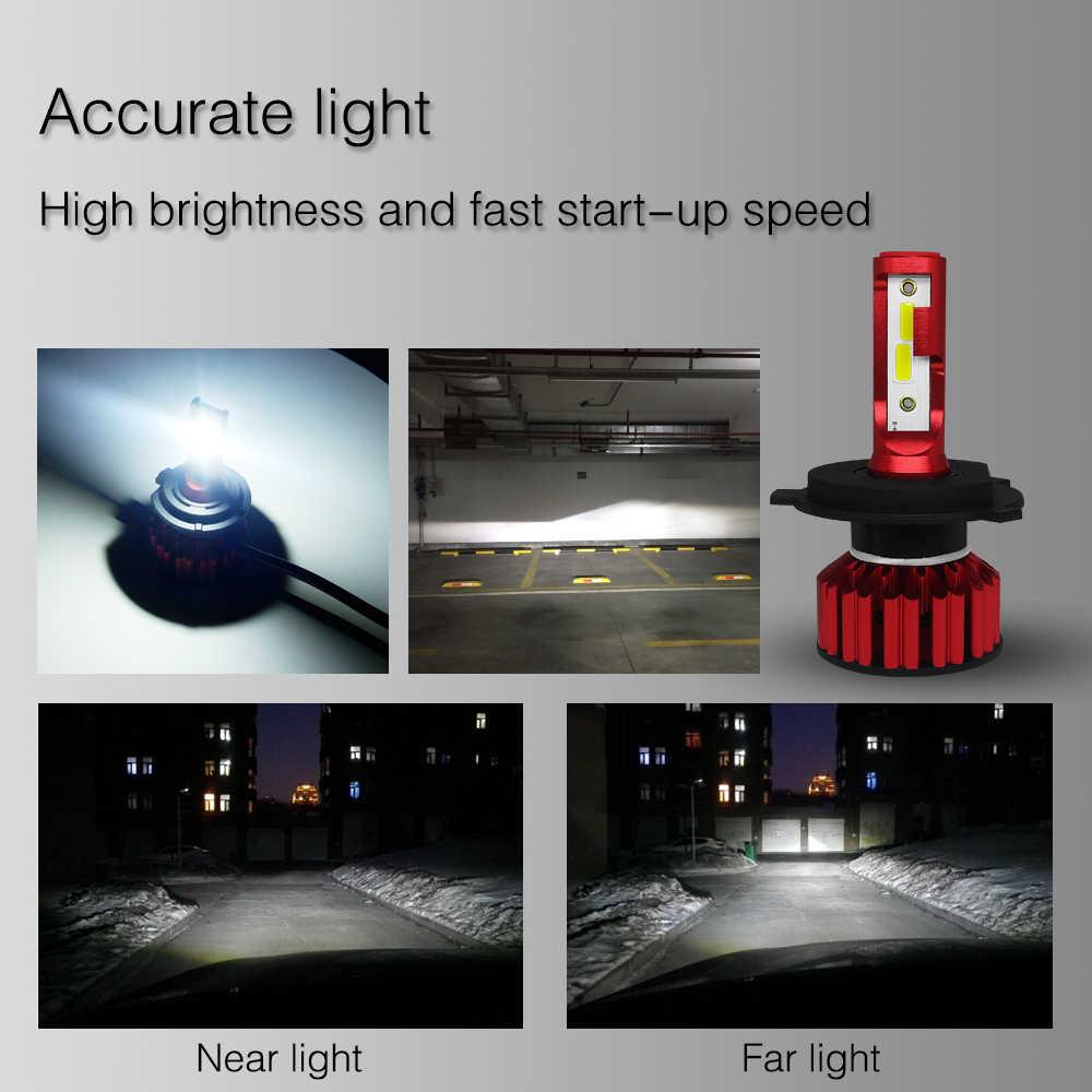 Aslent Mini Size 80W 6000K 16000lm H4 HB2 H7 H8 H9 H11 9005 9006 Anti-Emc for Car LED Headlight Cars Bulbs COB Auto Headlamp 12v