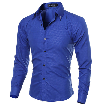 5XL Plus Size Brand-clothing Cotton Mens Clothing Solid Soft Men Shirt Long Sleeve Mens Shirts Casual Slim Fit  Hot Sale 1