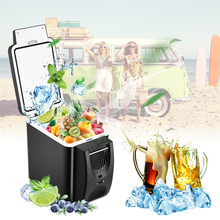 Mini 6L Auto Fridge Cooler&Warmer 2 in 1 Multi-function 12V Car Refrigerator Portable Compressor Freezer Cooling to 5 Degree