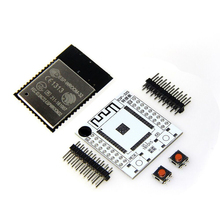 ESP32 ESP-32S ESP-WROOM-32 Original Iot Wifi Wlan BLE Module+Adapter Board dstike wifi packet monitor v3 preflashed d duino 32 sd esp32 wrover oled wifi ble iot development kit battery charge esp32