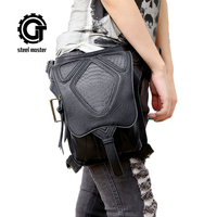 Steampunk Bag Womens Waist Bags Shoulder Messenger Bag Multi Function Leather Bag