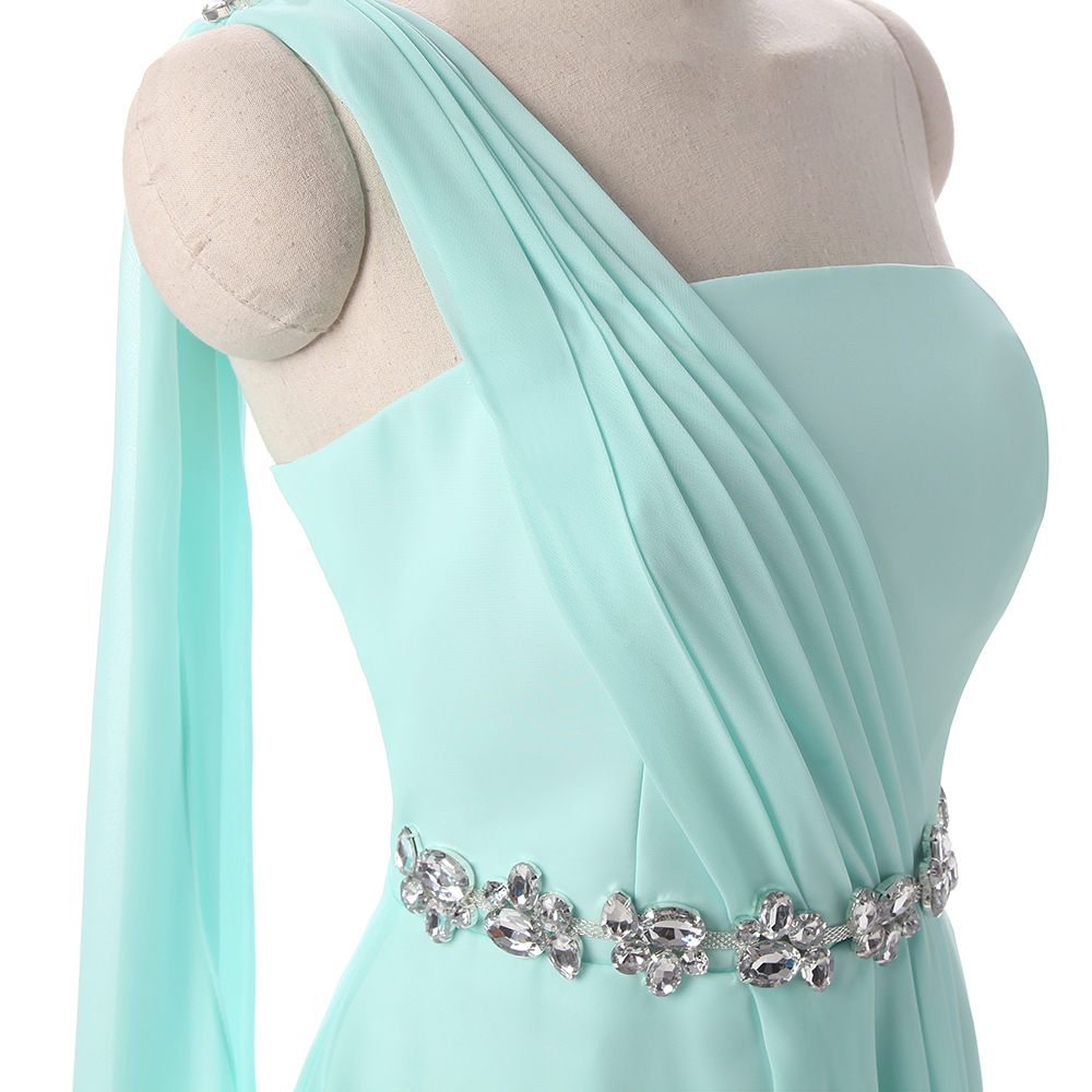 Potnpatio real photo one shoulder long bridesmaid dresses chiffon potnpatio real photo one shoulder long bridesmaid dresses chiffon mint green plus size color customized in bridesmaid dresses from weddings events on ombrellifo Image collections