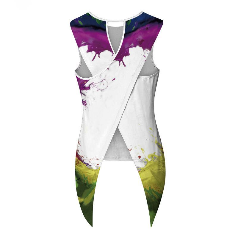 Купить с кэшбэком Rainbow 3D Print Kirin O-neck Tank Tops Women Sport Vest Blouse Fitness Tshirt For Yoga Sleeveless T Shirts Breathable Tees Tops