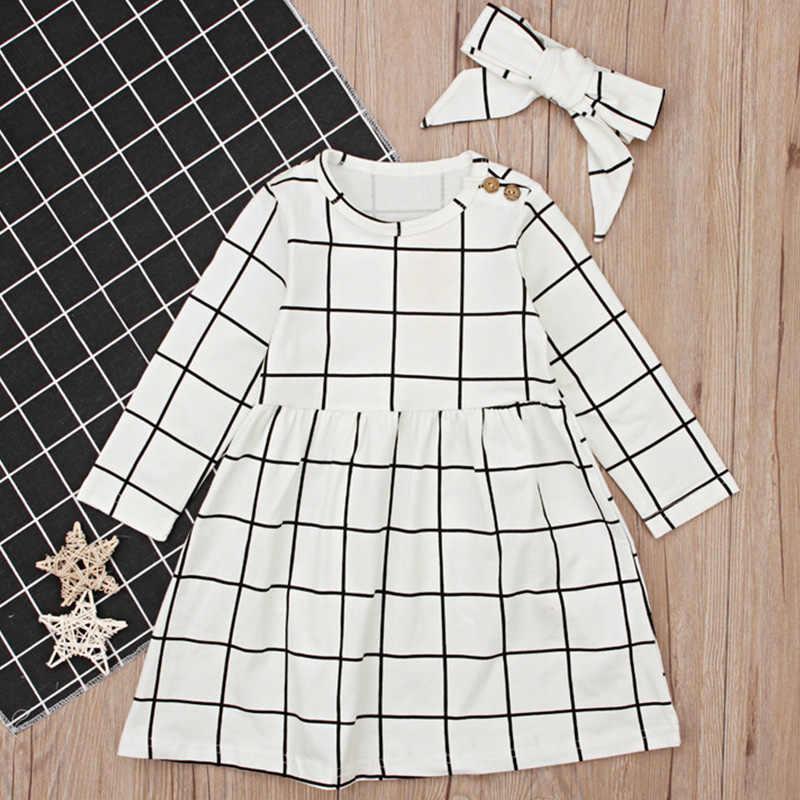 Bear leader/платья для девочек модная детская одежда из 2 предметов одежда для детей красивые платья для вечеринки для девочек клетчатое платье с лентой для волос