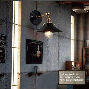 Image 2 - Nowoczesne Vintage Loft metalowe podwójne głowice kinkiet Retro mosiądz kinkiet styl ludowy E27 Edison kinkiet lampa oprawy 110V/220V